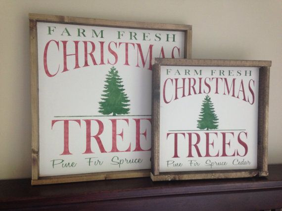 Christmas Tree Sign - Christmas Tree Farm - Christmas Decorations - Farmhouse Christmas - Wood Christmas Tree Sign - Wood Sign
