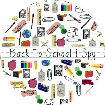 Back to School I Spy Game - free printable! #newteachers #backtoschool