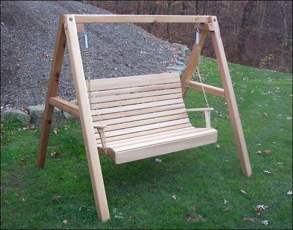 design of covered free standing porch swing photo