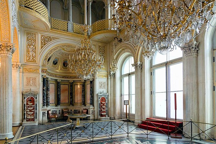 Pavilion Hall at the Winter Palace / Hermitage Museum in St Petersburg, Russia