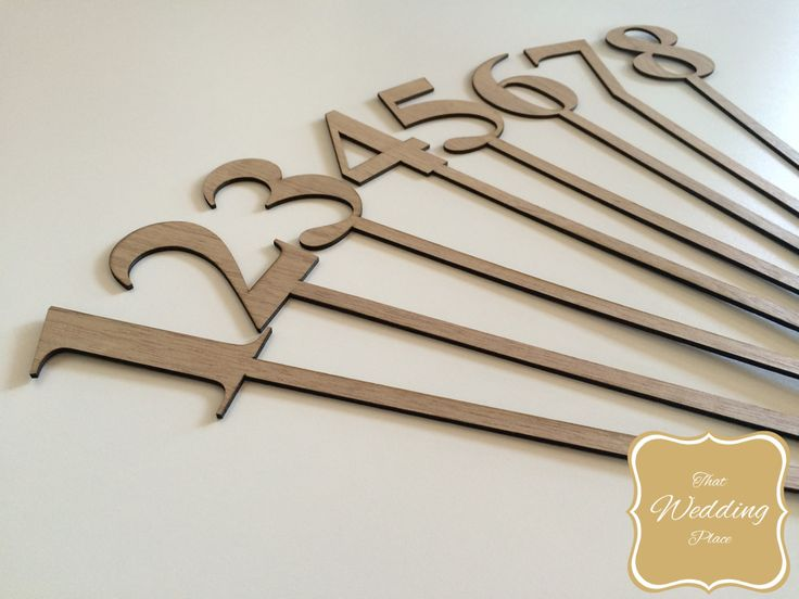 Wedding Table Numbers - Wood Stick