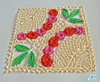Doting on Doilies: Floral Square