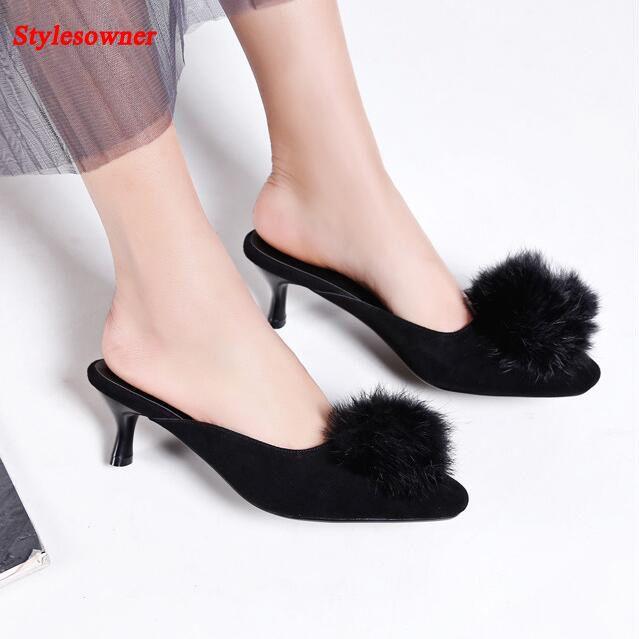 Les hauts talons, Maomao suède fin, femmes, chaussures simple,jaune,45