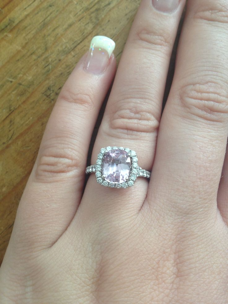Showing You A Cushion Cut Halo Design With Pink Probaby Wouldn T Have The Shire Engagement Ringscushion