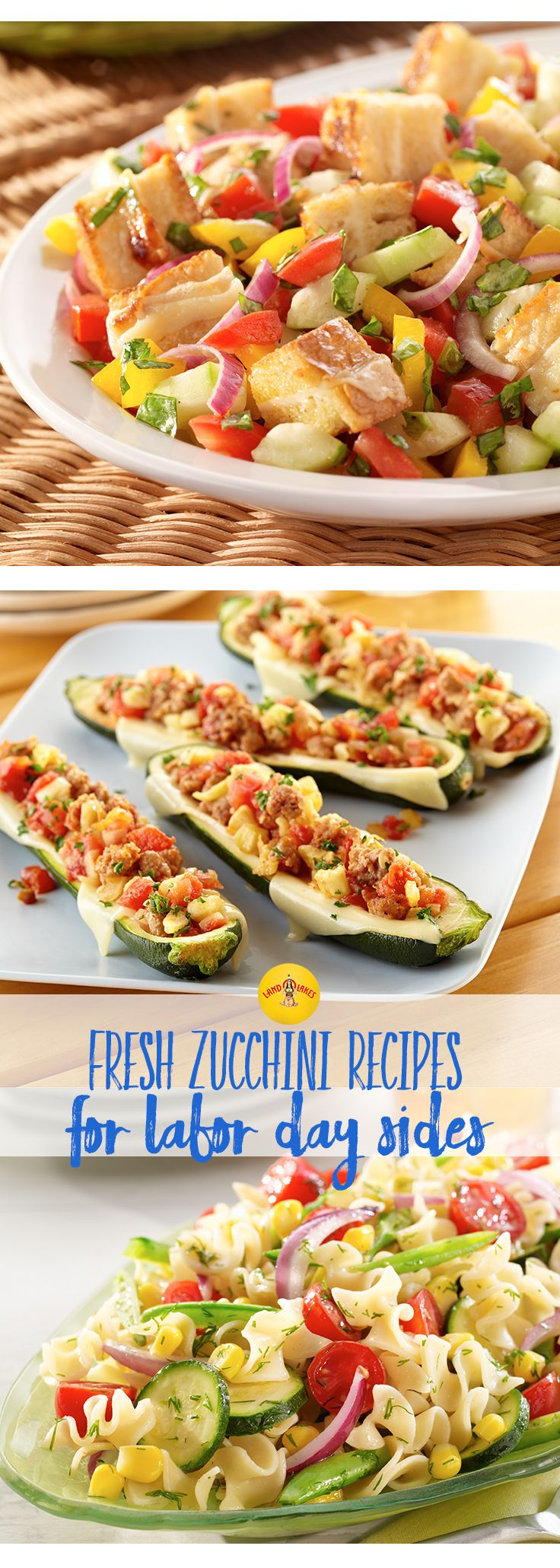 Zucchini is a great addition to any meal especially for an end-of-the-summer bash like Labor Day weekend. Celebrate the summer with sides that are a perfect complement to a juicy, grilled burger.