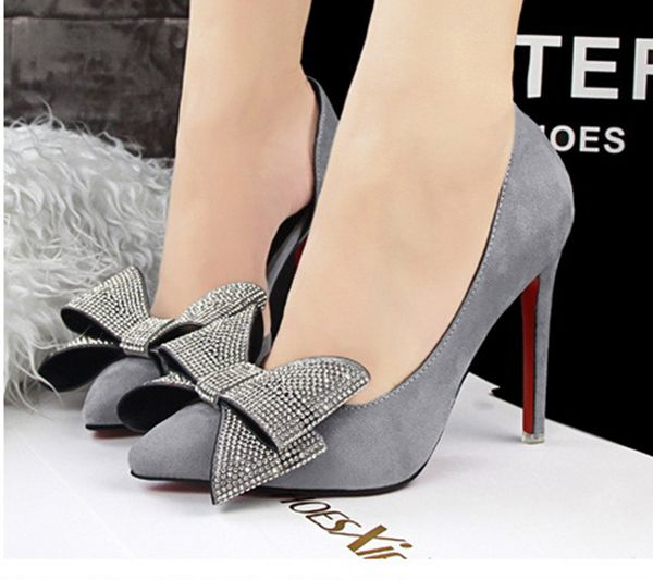 #Sweet Thin#New Fashion Sweet Thin Heels Pointed Shallow Mouth Bow Shoes Grey http://www.clothing-dropship.com/new-fashion-sweet-thin-heels-pointed-shallow-mouth-bow-shoes-grey-g2342579.html
