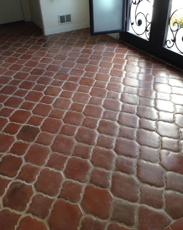Arabesque Picket Spanish Mission Red Terra Cotta Floor