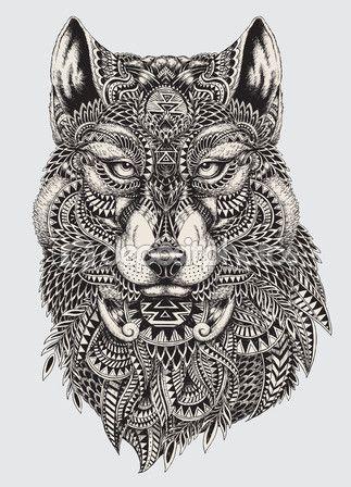 Ms de 25 ideas increbles sobre Mandalas de lobos en Pinterest