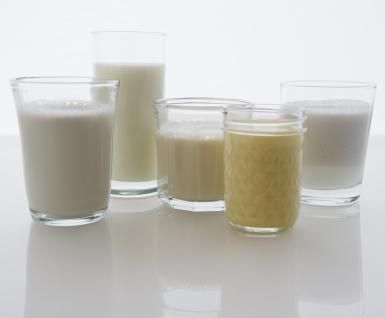 Soy and nut milks are allowed on full liquid diets. - Jamie Grill/Getty Images