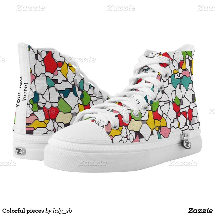 Colorful pieces printed shoes