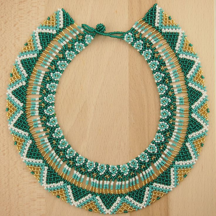 Collier perles OKAMA BLEU EMERAUDE latino. Bijoux fait main ethnique chic, 46.90€