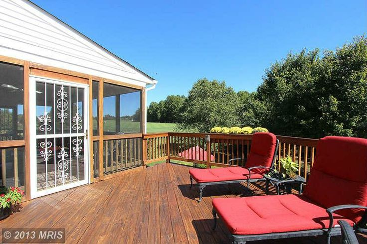 Soak up the sun on this backyard deck. #homeforsale 403 Firestone Drive, Silver Spring, MD | The Speicher Group www.livelovemaryland.com