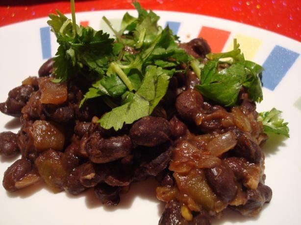 Spicy Simple Black Beans Recipe | Black Bean Recipes, Black Beans ...