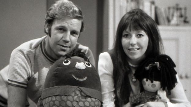 Death of Brian Cant, 83, announced.  Brian Cant with Humpty and Chloe Ashcroft with Jemima, two of the Play School presenters