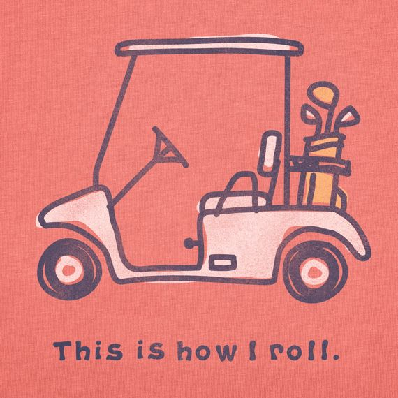 Women's Golf cart Short Sleeve Crusher Tee | Golfing Tee Shirts | Life is good