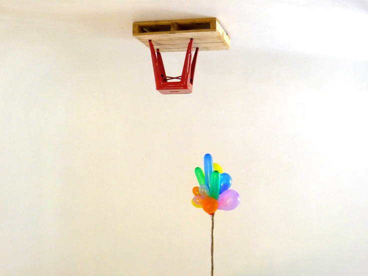 Balloons, pallet, stool - 01, 2012 by @creativeBhav