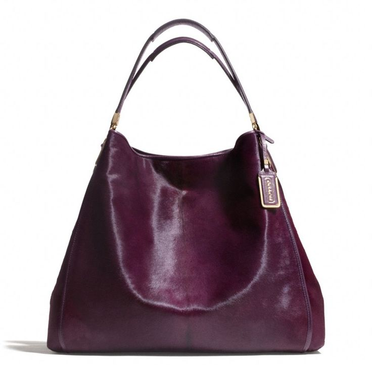 The Madison Large Phoebe Shoulder Bag In Mixed Haircalf from Coach