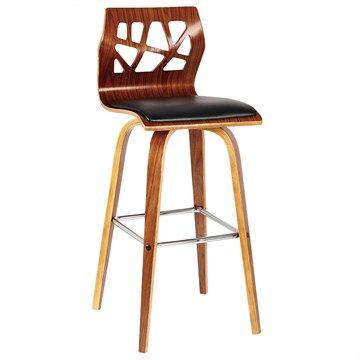 Manhattan Walnut Timber Bar Chair with PU Seat