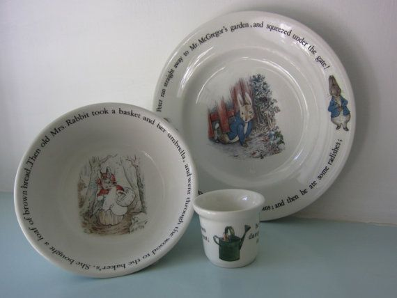 Beatrix Potter Peter Rabbit Wedgwood bowl by thevintagemagpie01