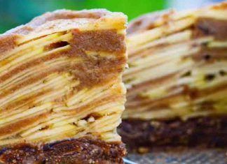 Jablečný nepečený koláč (Raw) z 5 ingrediencí