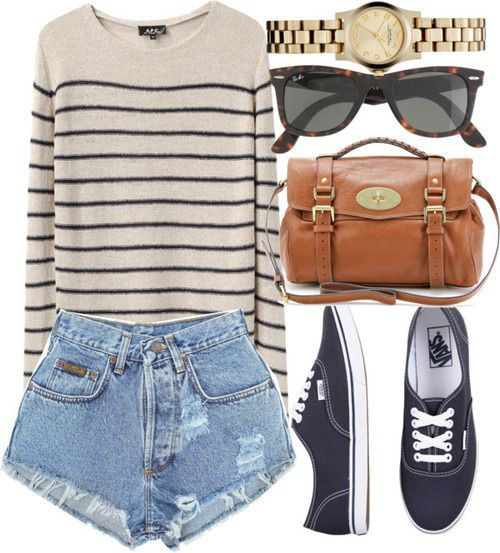 Twenty Fashion Ideas For How To Look Good In High Waist Shorts 6