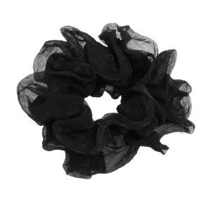 "Rosallini Solid Black Voile Wrapped Elastic Band Hair Tie Ponytail Holder by Rosallini. $4.34. Product Name : Ponytail Holder;Material : Elastic Fabric, Voile. Main Color : Black;Overall Dia. (Not Stretch) : 130mm/ 5.1"". Net Weight : 7g. Hole Dia. (Not Stretch) : 40mm/ 1.6"". Package Content : 1 x Ponytail Holder. This elastic fabric hair band will help you do up your hair more easily and you will be more spiffy no matter when you wear it on.This Ponytail Holder helps secure your..."