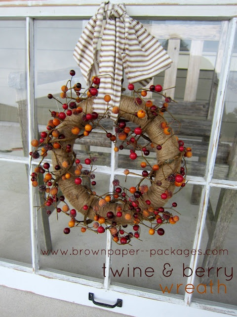 Twine & Berry Wreath! Perfect for fall!