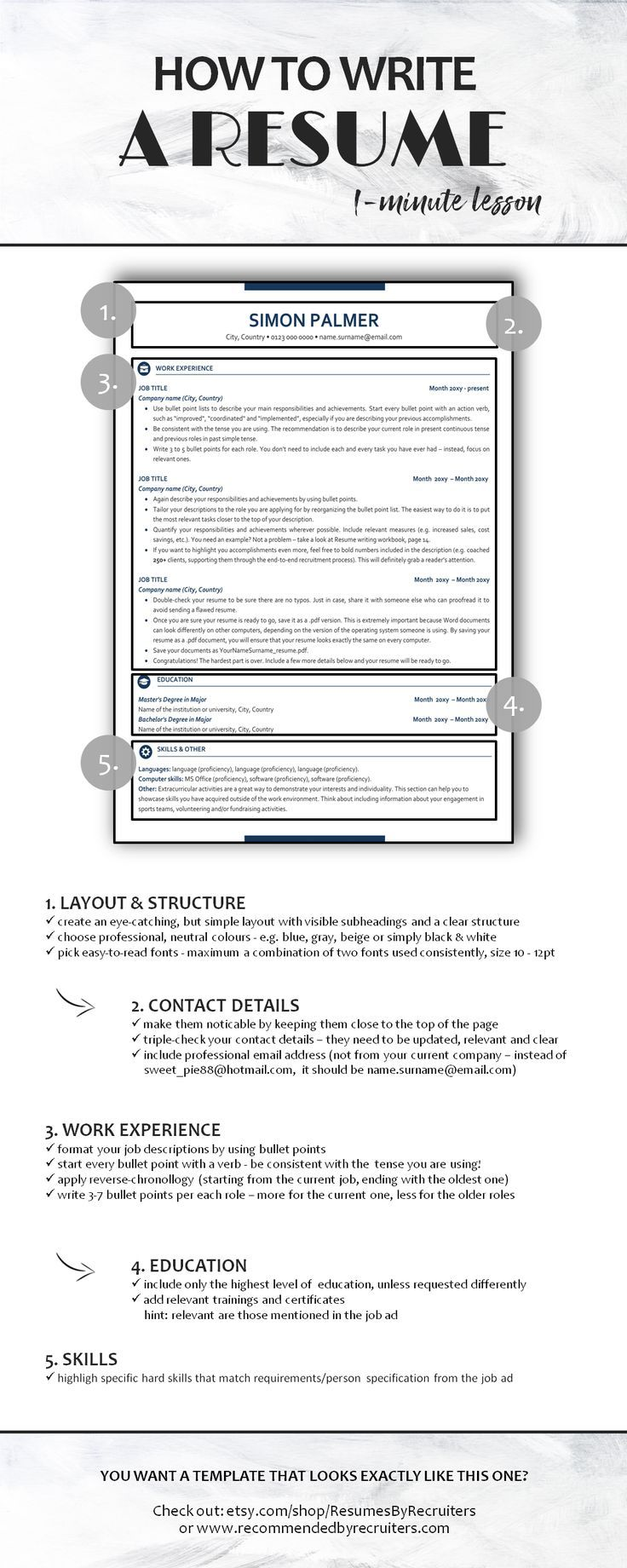 How to write a resume five quick tips for a perfect cv