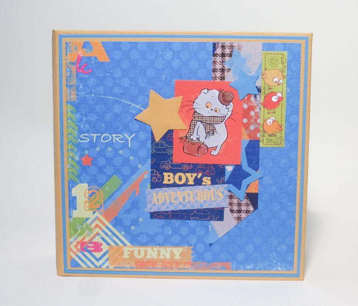 Baby boy photo album Personalized boy album Little boy scrapbook Custom baby mini album Baby memory book Baby boy keepsake Baby shower gift by HandmadeByZoStore on Etsy
