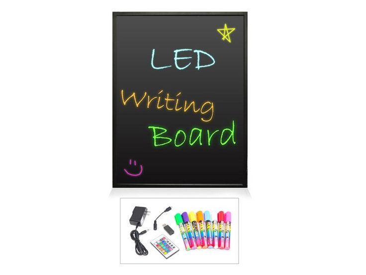 "32"" x 24"" Erasable Illuminated LED Writing Board for $69.99"