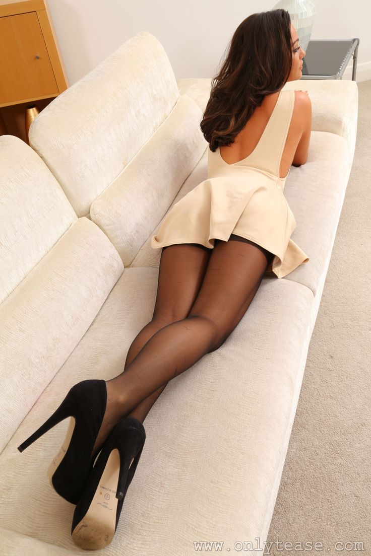 Think, Black and white nylon stockings