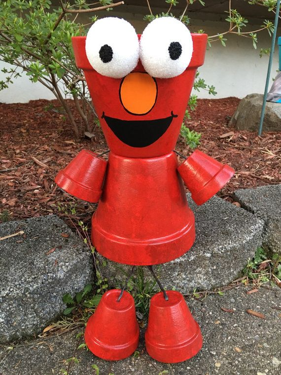 Elmo jardinière Pot personne Pot personnes par GARDENFRIENDSNJ