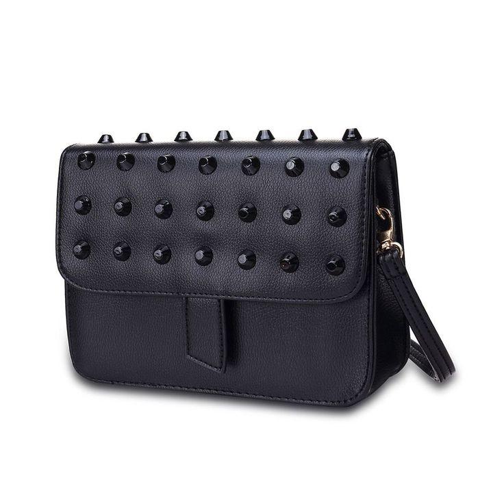 Tasche Glam Rock Handtasche Clutch Nieten Schwarz  | eBay