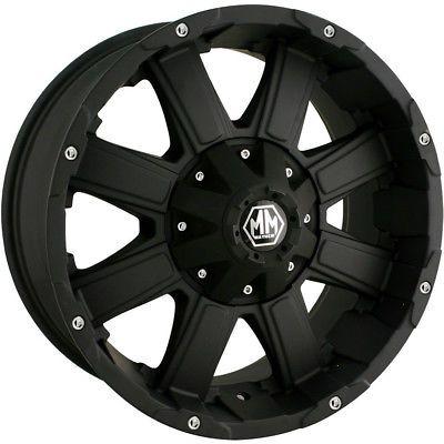 22x12 Black Mayhem Chaos Wheels 8x6.5 8x170 -44 Lifted DODGE RAM 3500 RAM 2500