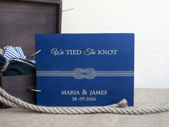 we tied the knot guest book / nautical guest book / nautical