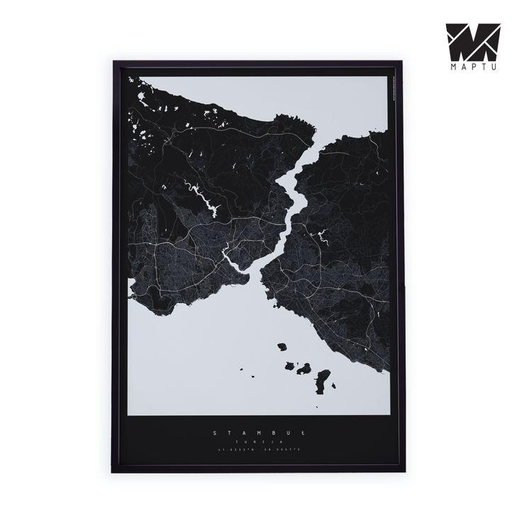 Dekoracyjna Mapa Stambułu | maptu.pl