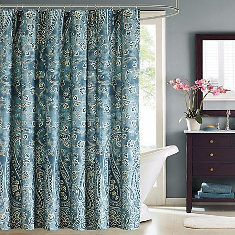 Harbor HouseTM Belcourt Printed Shower Curtain In Blue