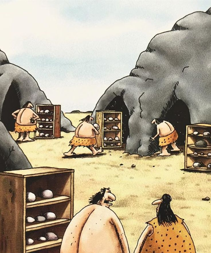 """I used to like this hobby. ...But shoot! Seems like everybody's got a rock collection."" The Far Side"