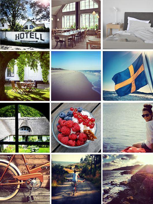 Underbar sammanfattning av en underbar svensk sommar! (Österlen - milslånga stränder (Sandhammaren, Mälarhusen), kafferosteriet, Löderups strandbad. Skåne - Brantevik och drakamöllan, Västkusten - klippor och hav, sommarbär) <3