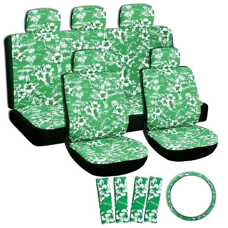 Oxgord Hawaii Green 17-piece Seat Cover Set (Hawaii Green Seat Cover 17 PCs Set)