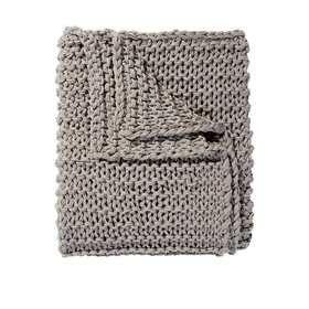 Chain Knit Throw - Grey