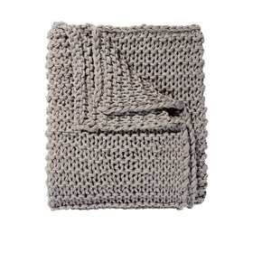 Chain Knit Throw - Grey