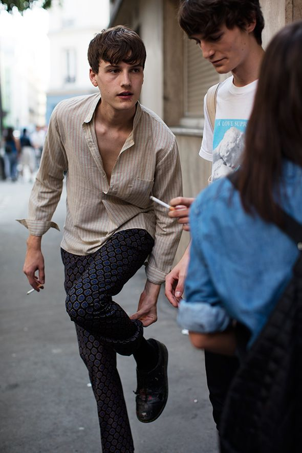 Street look by the sartorialist (often industry people hanging outside fashion shows)