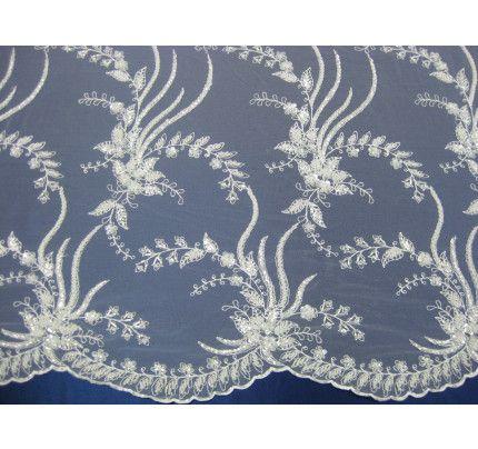 Svatební krajky a tyly na svatební šaty, šíře cca 130cm, bílá