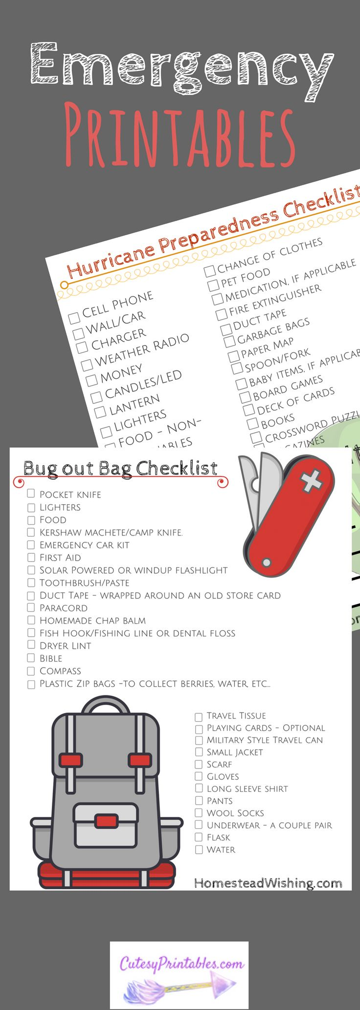 bug out bag checklist pdf
