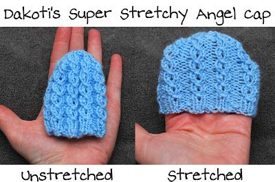 Dakoti's Super Stretchy Hats for angel babies and preemies - 3 patterns
