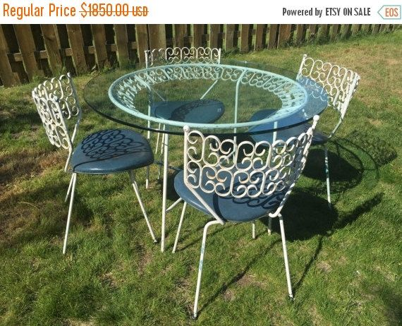 MOVING CLEARANCE Vintage 1964 Rare Arthur Umanoff For Boyuer Scott Granada  Collection Patio Table With Glass