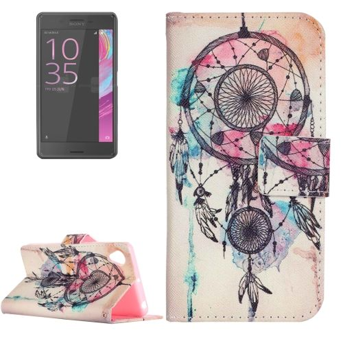 [$2.02] For Sony Xperia XA Painting Dream Catcher Pattern Horizontal Flip  Leather Case with