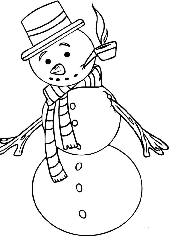 Frosty Snowman Smoke Coloring For Kids - Frosty Coloring ...