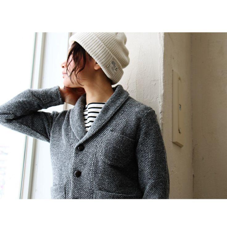 【楽天市場】【送料無料】 ニットカーディガン ジャズネップ インレイ メンズ レディース グレー ショールカラー ニットジャケット 日本製:PATY